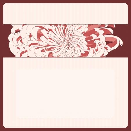 bordo: Vector illustration for greeting card with chrysanthemum. Illustration