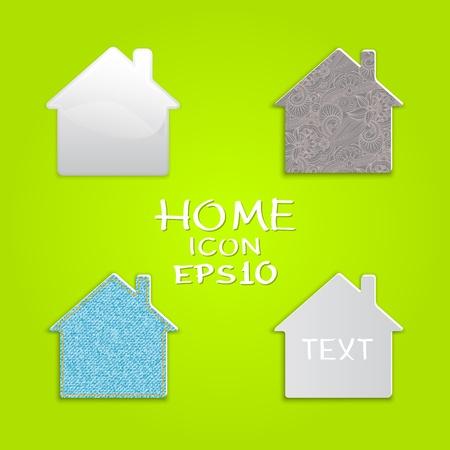 set of houses shape original design.