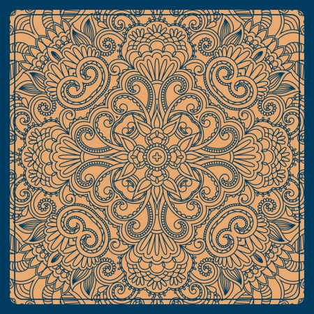 vintage pattern for print, embroidery (you can use this pattern for carpet, shawl, pillow, cushion). Illustration