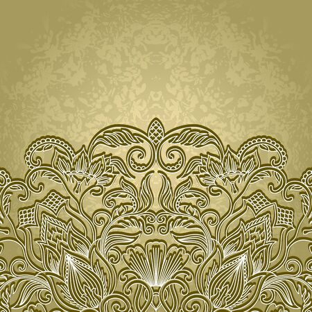 briliance: illustration with floral pattern for greeting card.