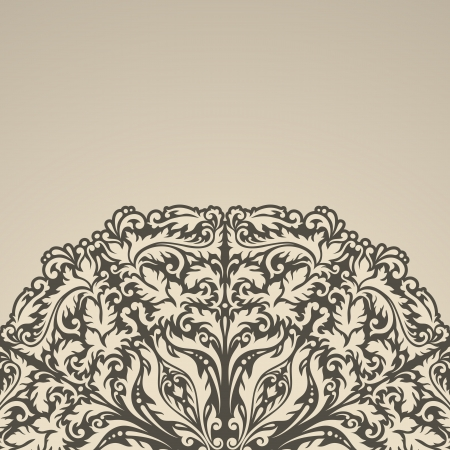 Vector illustration with vintage pattern for greeting card. 일러스트