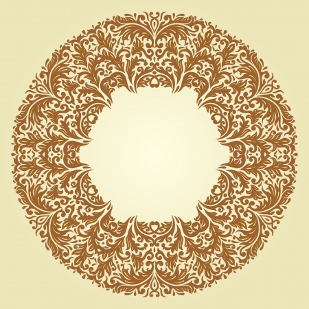 arabesque antique: Vector illustration with vintage pattern for print, embroidery.