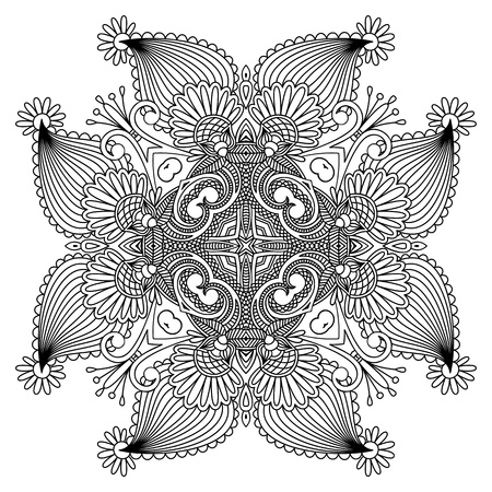 lace filigree: Vector illustration with vintage pattern for print, embroidery.