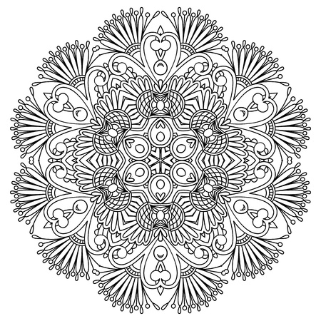 embroidery flower: Vector illustration with vintage pattern for print, embroidery.