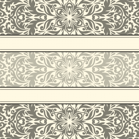 illustration with vintage pattern for greeting card.