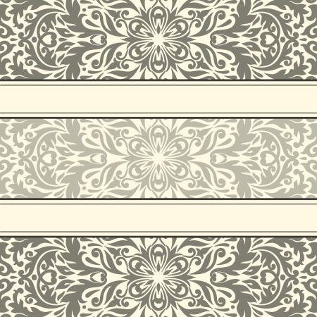 illustratie met uitstekend patroon voor wenskaart. Stock Illustratie