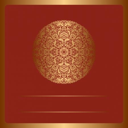 lustre: Illustration with vintage pattern for greeting card.