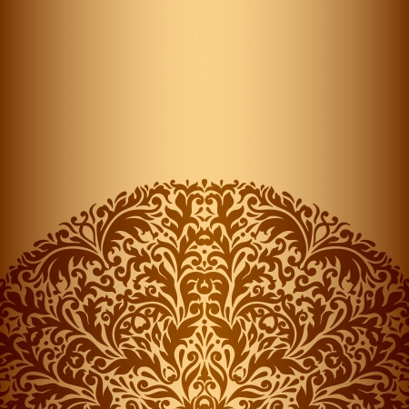 briliance: Illustration with vintage pattern for greeting card.