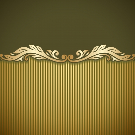 Illustration with vintage gold ornament and place for text. Stock Vector - 20307086