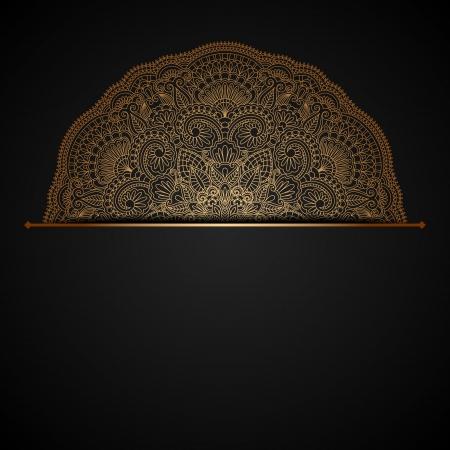 ベクトル イラスト ヴィンテージ金飾りとテキストのための場所。