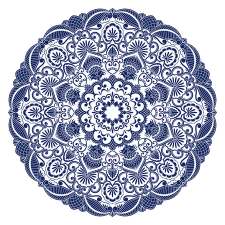 Vector illustration with vintage floral pattern for print, embroidery.