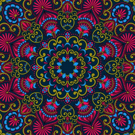 Vector vintage pattern for print, embroidery (you can use this pattern for carpet, shawl, pillow, cushion). Vector