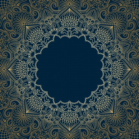 blue carpet: Vector vintage pattern for print, embroidery (you can use this pattern for carpet, shawl, pillow, cushion).