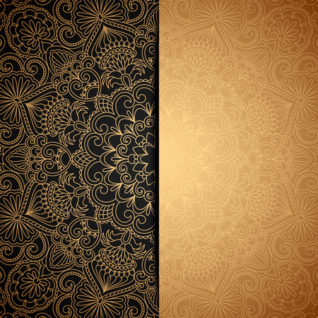 Vector illustration with vintage pattern for greeting card. Illustration