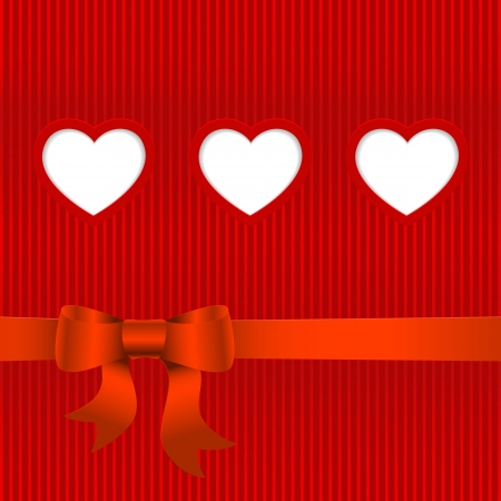 place for text: Vector Valentines day card with hearts and place for text.