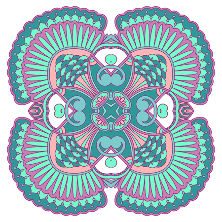 magenta decor: Vector illustration with vintage pattern for print, embroidery.