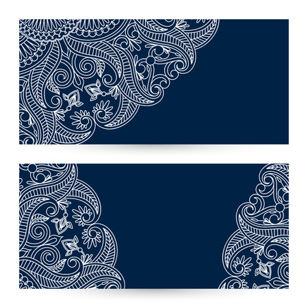 Vector templates floral pattern graphic designs. Birthday or invitation card.