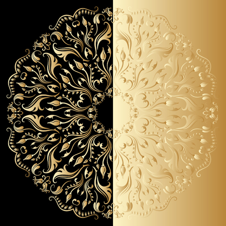 Vector illustration with vintage lace floral pattern. Vector
