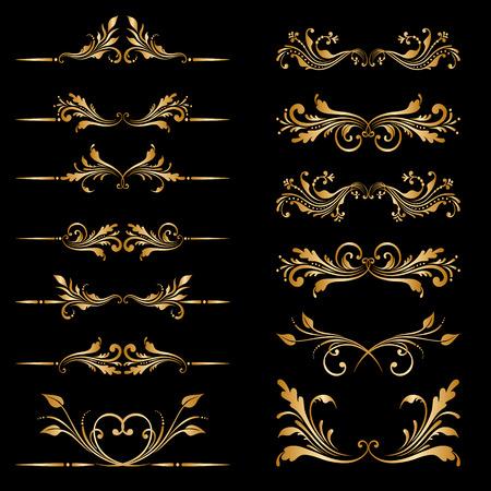 bordes decorativos: Vector conjunto de las fronteras, elementos decorativos Vectores