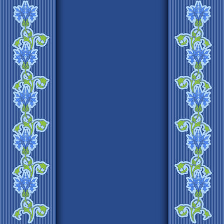 Vector greeting or invitation card with cornflowers and place for text. Vector