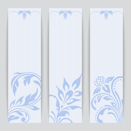 esquineros de flores: Vector set with floral pattern for greeting or invitation card.