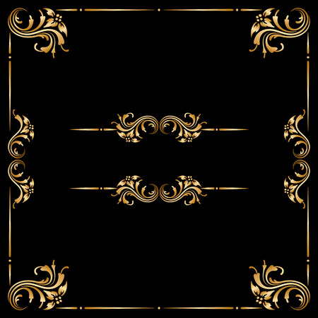 Vector ensemble d'éléments décoratifs floraux vintages pour la conception, l'impression, la broderie. Banque d'images - 32630246