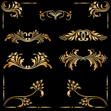 Vector set of borders, decorative elements for design, print, embroidery.