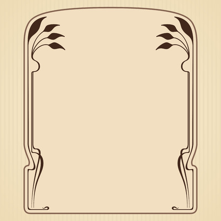art nouveau frame: Vector art nouveau frame with space for text. Illustration