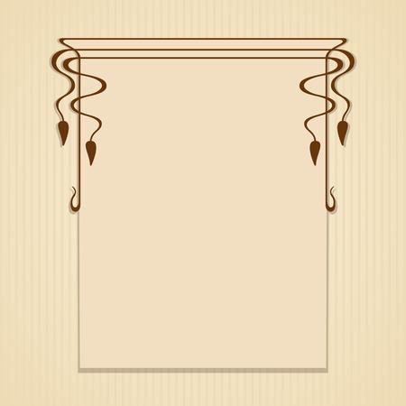 Vector art nouveau frame with space for text. Ilustração