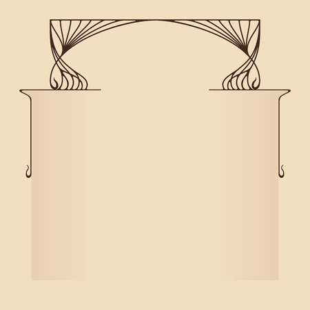 art nouveau frame: Vector art nouveau frame with space for text. Illustration