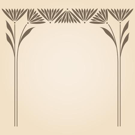 テキスト用のスペースを持つベクトル芸術の nouveau 飾り。