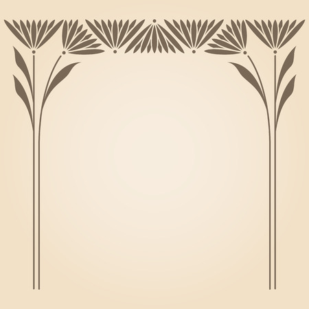 Vector art nouveau ornament with space for text .