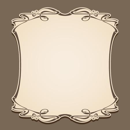 art nouveau frame: Vector art nouveau frame with space for text .