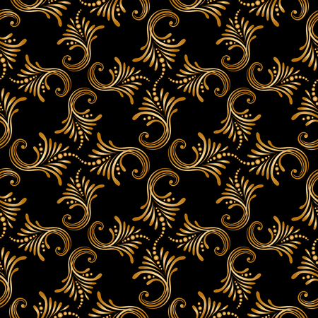 filigree background: Vector seamless background with vintage floral pattern.