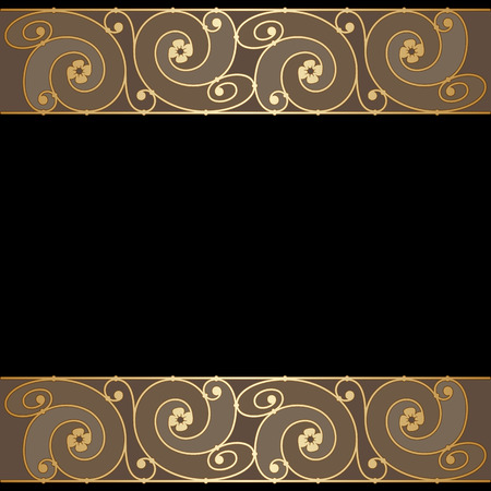 Vector vintage label or invitation card with art deco ornament.