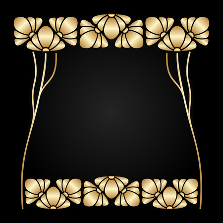 Vector art nouveau ornament with space for text. Vector