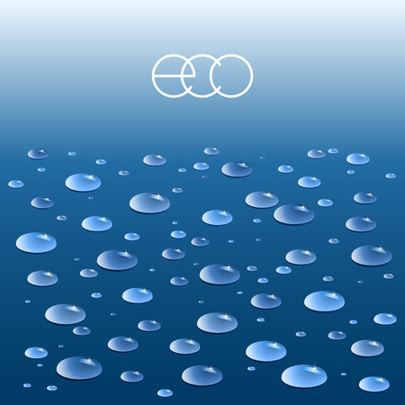 pure: Vector blue background with pure water drops.