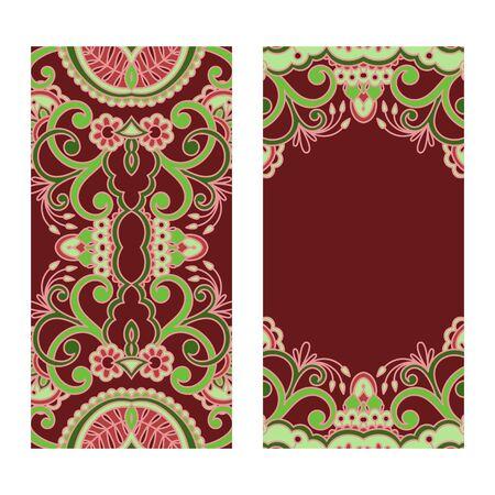 bordo: set of floral decorative background