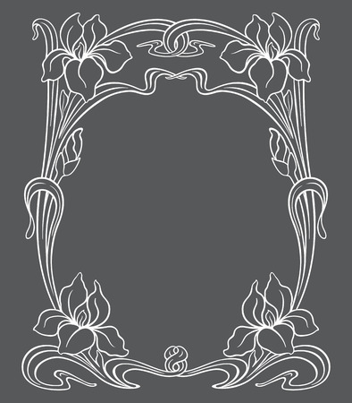 ornamental frame: Vector art nouveau ornamental frame with space for text. Illustration