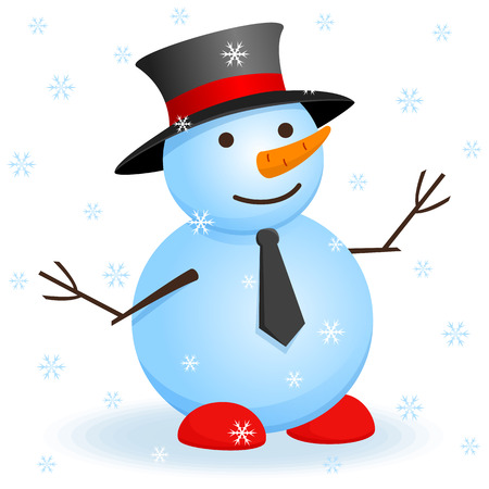 Vector christmas invitation card with snowman.