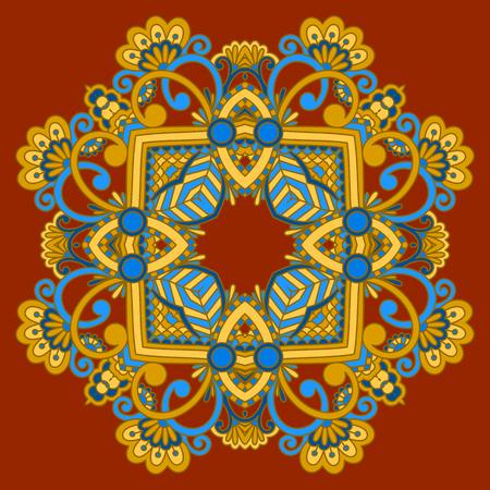 arabesque pattern: Vector vintage floral decorative element for design, print, embroidery.