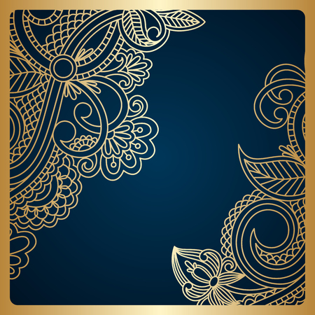 royal background: Vector floral decorative background, template frame design for card, brochure, book, business card, postcard, wedding invitation, banner.