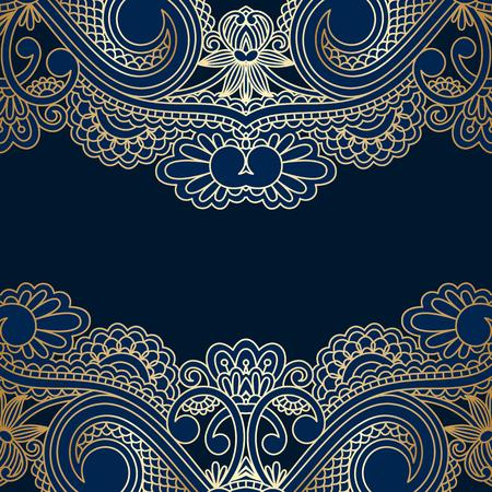 lineas decorativas: Vector Fondo decorativo floral, diseño del marco del modelo para la tarjeta, folleto, libro, tarjetas de visita, tarjetas postales, invitación de la boda, bandera.