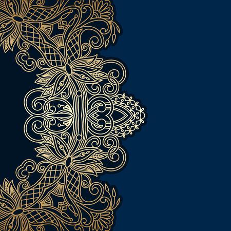 royal background: floral decorative background, template frame design for card, brochure, book, business card, postcard, wedding invitation, banner.