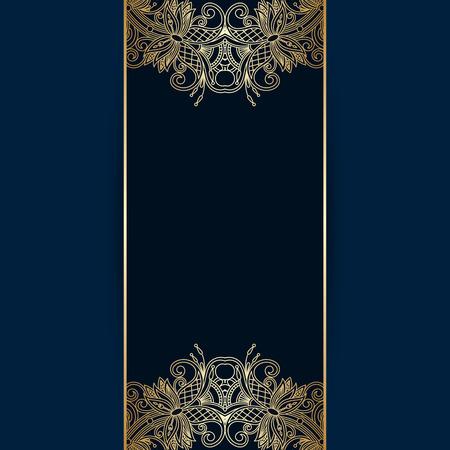 gold floral: floral decorative background, template frame design for card, brochure, book, business card, postcard, wedding invitation, banner.