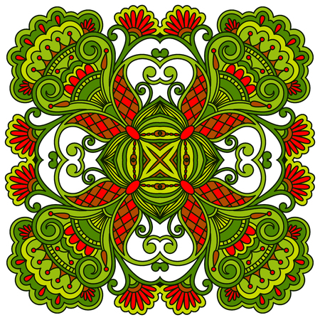 decorative design: vintage floral decorative element for design, print, embroidery.