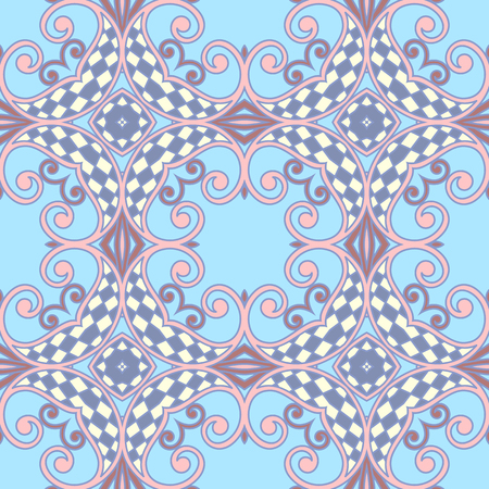 filigree: seamless background with vintage filigree floral pattern.