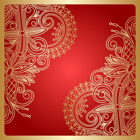 decorative background: floral decorative background, template frame design for card, brochure, book, business card, postcard, wedding invitation, banner.