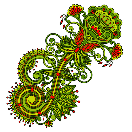 embroidery designs: Vector vintage floral decorative element for design, print, embroidery.