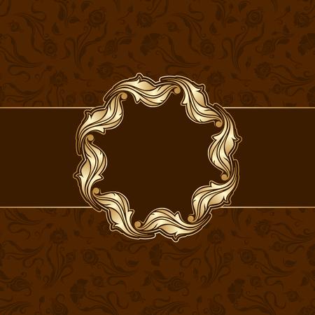 decorative background: Vector floral decorative background, template frame design for card, brochure, book, business card, postcard, wedding invitation, banner.
